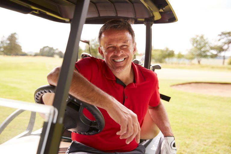 Man on golf course