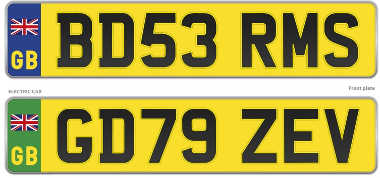 number plates changes